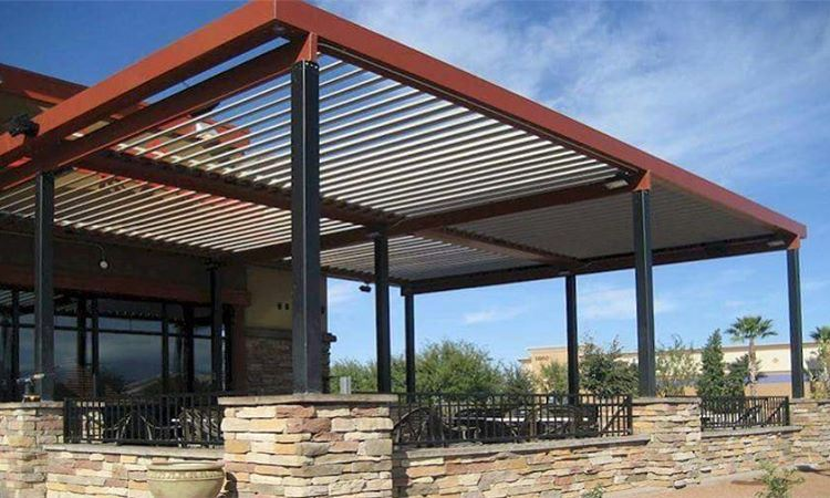 Steel Wood Pergola. PergolaKitsLebanon. Pergola  Steel  Wood  Design ...