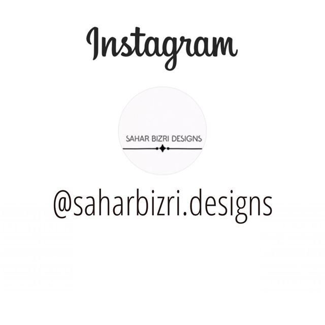 Dear Followers ,Kindly follow my new Personal Design Page @saharbizri.desig