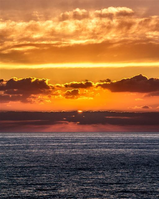 .A fiery sunset | Beautiful clouds and sea | Rawcheh, LB➖➖➖➖➖➖➖➖➖➖➖➖➖➖➖� (Rawche)