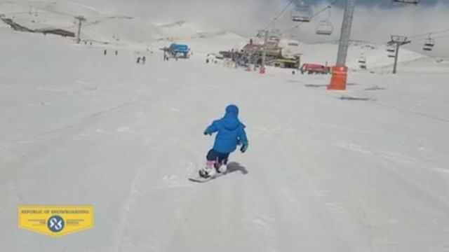 3-year-old Zeid killing it! Beautiful backside break. It's always great to... (Mzaar Ski Resort)