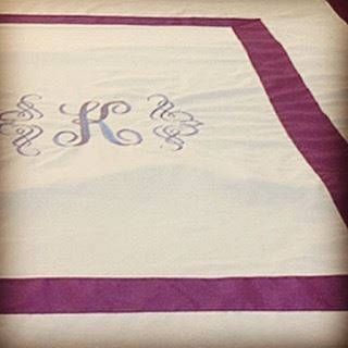 Monogrammed bedding & towel 💭 luxury collection. Write it on fabric by...