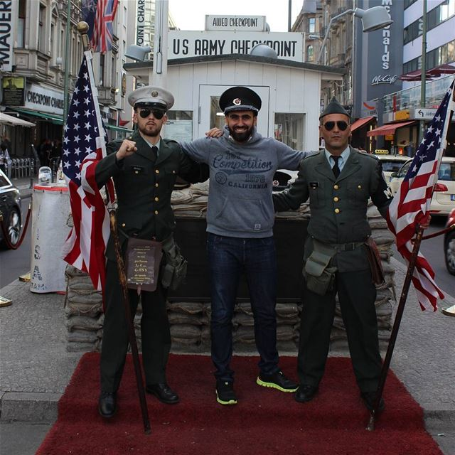 When in  Berlin 🤘.... Germany  berlinwall  europe  tourism  vacation... (Checkpoint Charlie)