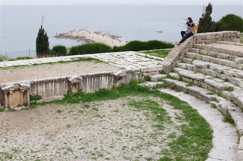 Roman amphitheater in Byblos. This is testament to the varied and rich... (Byblos, Lebanon)