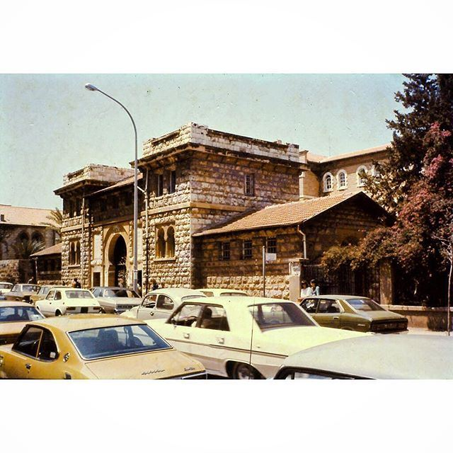 Beirut AUB Main Gate in 1971 .