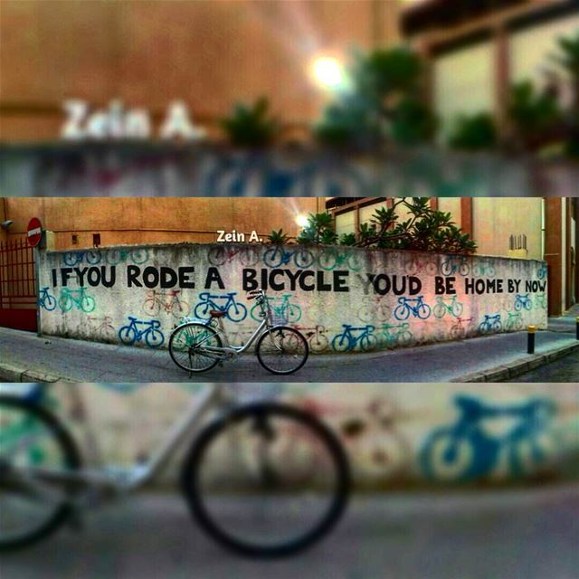 If you rode a bike you'd be home by now 🚴(big thanks for the girl that... (Hamra - حمراء)