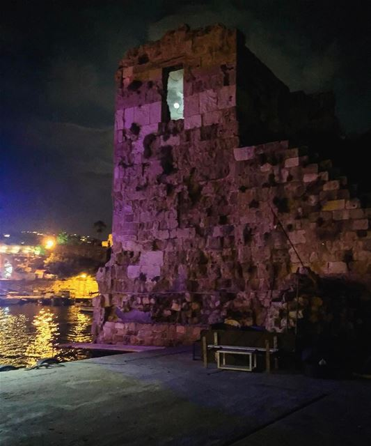 Frame your every view with hope & let it shine like the full moon in the... (Byblos, Lebanon)