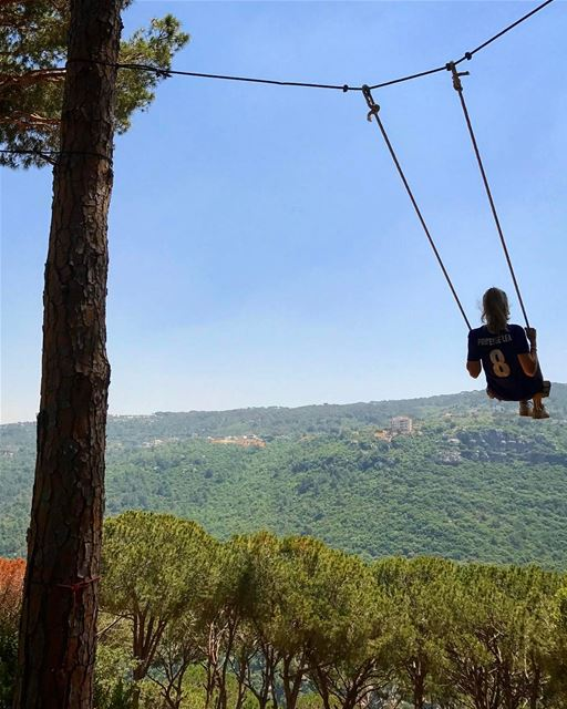 Don't forget to play 🙆🏼  Swing ... (Beit Meri, Mont-Liban, Lebanon)