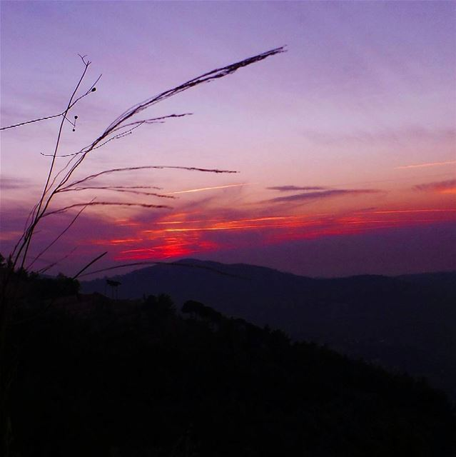 """At sunset, nature is painting for us, day after day, pictures of infinite... (Baakline, Mont-Liban, Lebanon)"