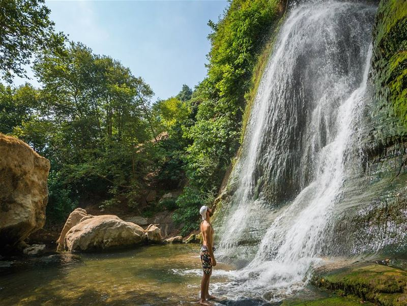 Hot weather, cold water  lebanon  lonelyplanet ... (Bsatin Al-Ossi Waterfalls)