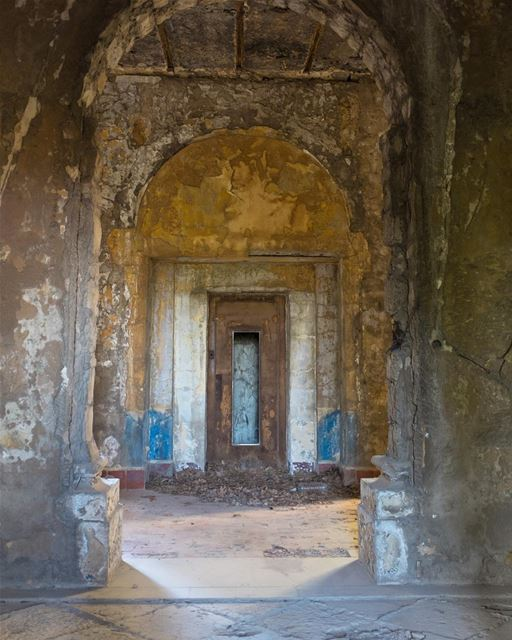 Doors Within Doors. Rusting rebar. Flaking paint. Layers of grime. The... (Sawfar, Mont-Liban, Lebanon)