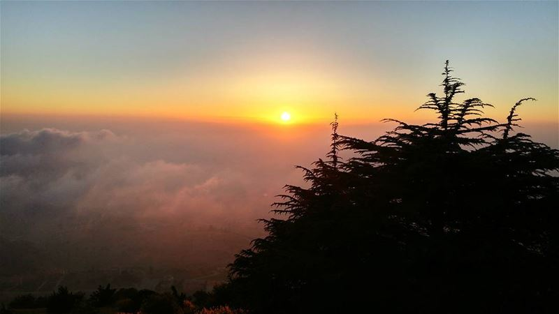 Mountain view 🌅... (Falougha, Mont-Liban, Lebanon)