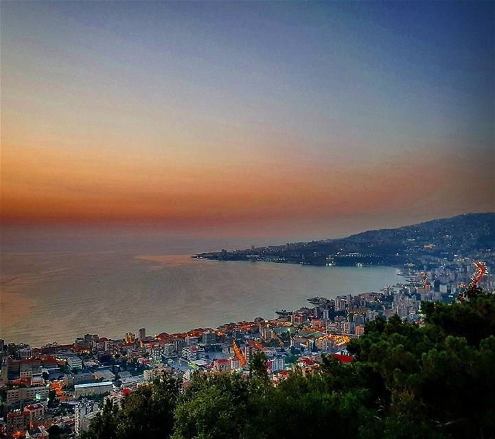 Today's sunset ---------------- lebanon  jounieh  harissa  beirut ... (Our Lady of Lebanon)