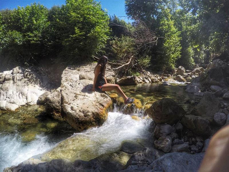 Just go with the flow 🦎 ...... river  rivercrossing  gopro ...