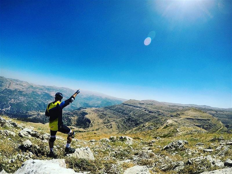 Set a goal that makes you want to jump out of bed in the morning. gopro ... (Mount Sannine)