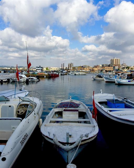 boats  sea  sky  clouds  colors  nostalgia  tyr ...
