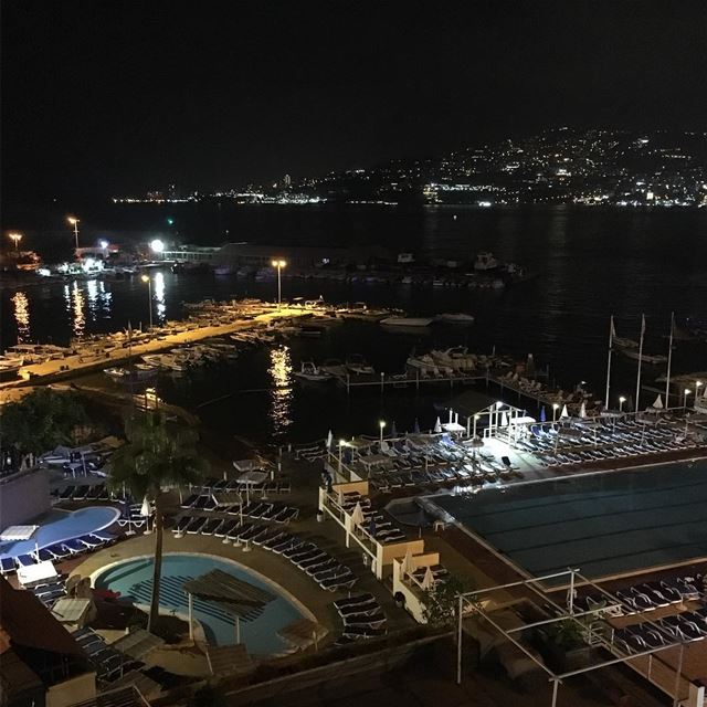 Night time view from Bel Azur Hotel in Jounieh  Lebanon  lebanoninapicture... (Bel Azur)