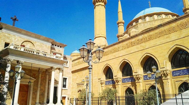 beirut  city  lebanon  lebanese  architecture  church  mosque  summer ... (Beirut, Lebanon)