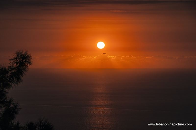 Sunset Over the Sea From Santa Maria Harissa