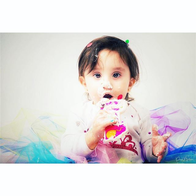 cake  photoshoot  جوري  dream  cool  birthday  playing  smile  oneyearold...