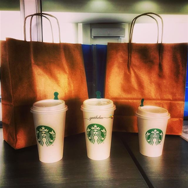 Nothing can stop you from craving  Starbucks while in your office or at... (Downtown Beirut)