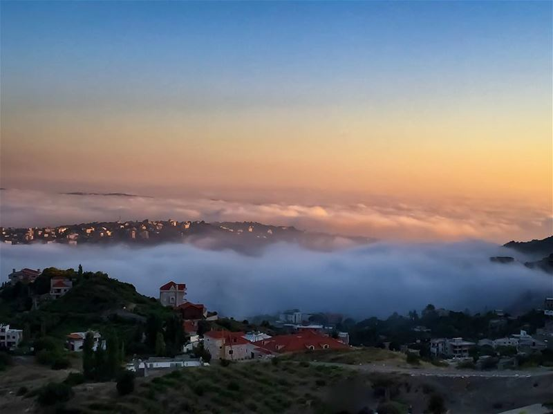 Mist filling the  valleys  dusk  mountain  magic_shots  princely_shotz ... (Lebanon)
