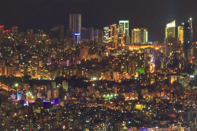 Beirut City Lights beautiful lebanon cityscape super_lebanon... (`Alayh, Mont-Liban, Lebanon)