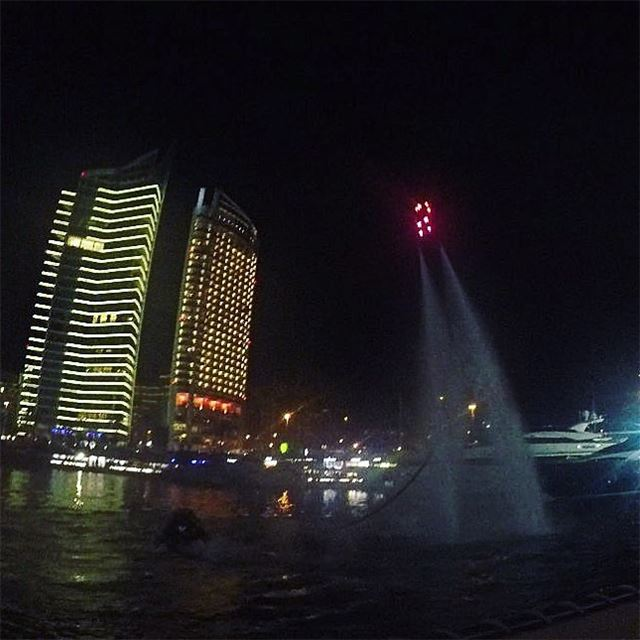 Stars ✨ can't shine without darkness  tbt  zaytounabay  flyboard ... (Zaytouna Bay Beirut)