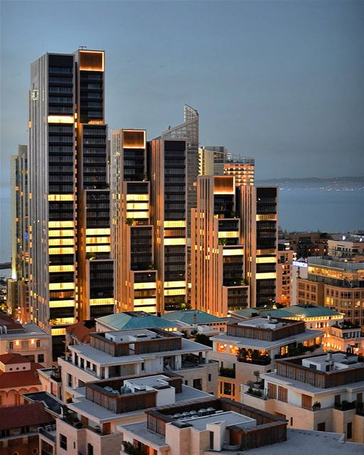 Twilights with our beautiful buildings .......... lebanon  beirut ... (Beirut, Lebanon)