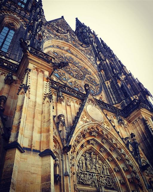 saintvitus  Gothic  obssession  cathedral  church  castle  architecture ... (St. Vitus Cathedral)