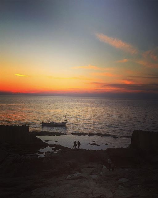 Magic hour from Batroun  lebanon  batroun  sunset  magic  nature  winter ... (Saydet El Baher-Batroun)