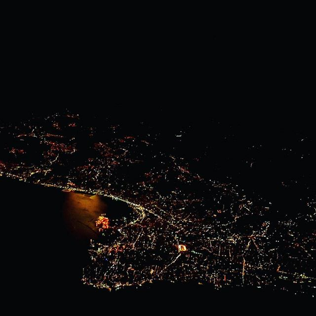 One clear visibility flying night... lebanon  beirut  flight  fly  pilot ...