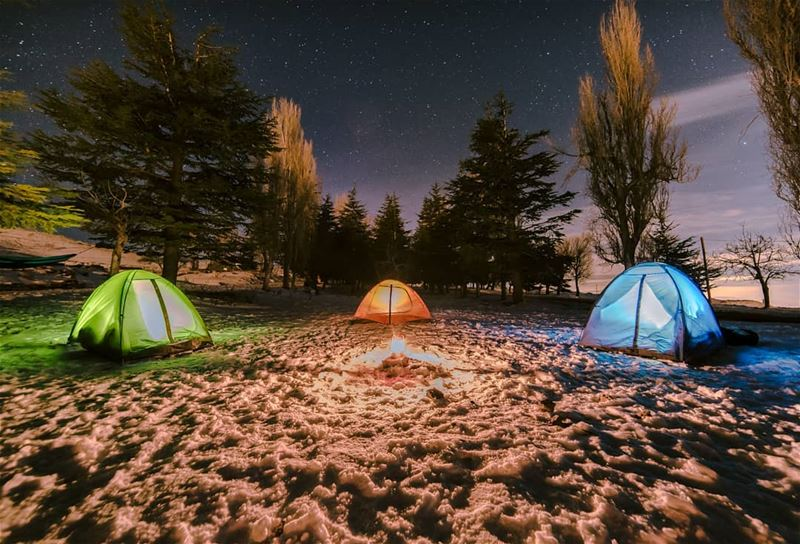 Under the bright sky we gather and through the dark night we bond⛺.......