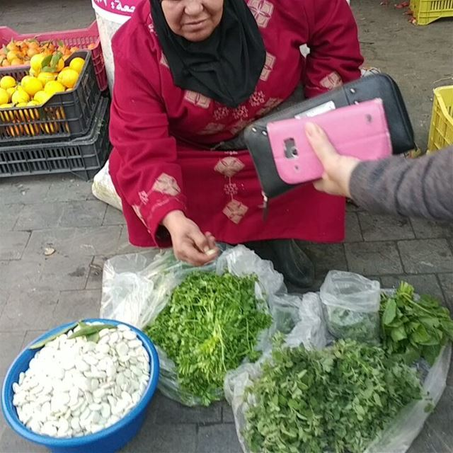 "She was asked "" is it baladiyeh?"" meaning locally sourced. She replied ""of... (Saïda, Al Janub, Lebanon)"