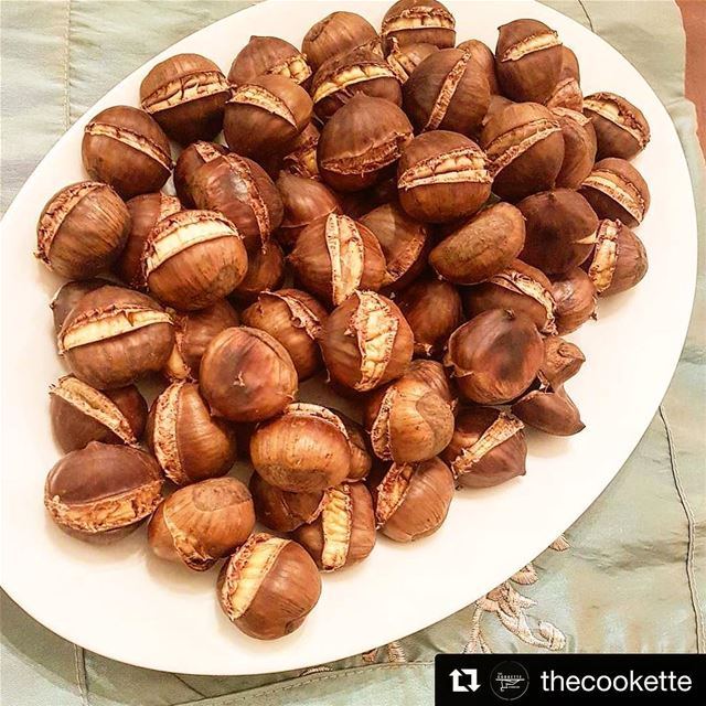 Repost @thecookette (@get_repost)・・・Oven Roasted Chestnuts🌸...