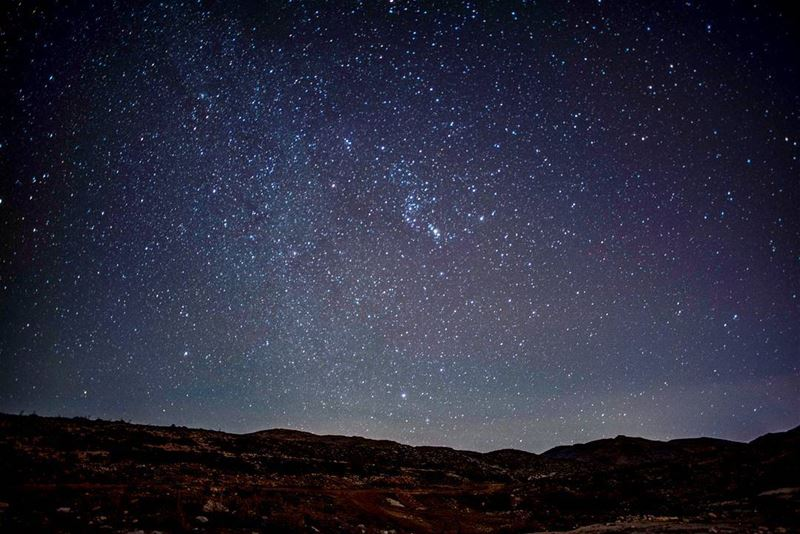 In a sky of iron the points of the Dipper hung like icicles and Orion... (Kfardebian,Mount Lebanon,Lebanon)