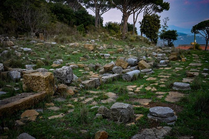 The Roman paved way of Beit Mery Phoenician Roman Village-📍Beit Mery (Bey (Beit Meri, Mont-Liban, Lebanon)