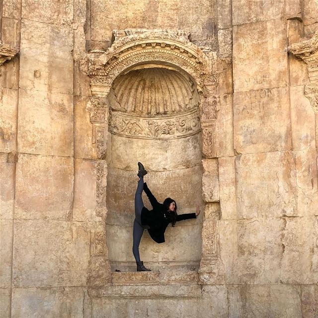 Same pose in the same 2000 year old spot 2 years later. Time is a funny... (Baalbek , Roman Temple , Lebanon)
