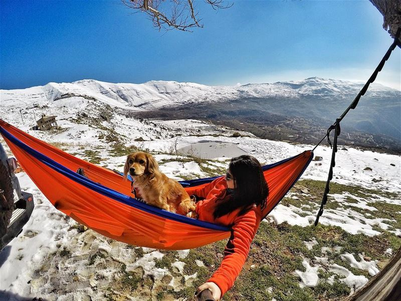 If I lay here, would you lie with me and just forget the world? 🐶 (Qanat Bakish, Mont-Liban, Lebanon)