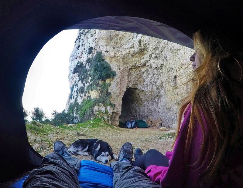 Camping in a kickass tunnel ⛺️: ✅📸 Credits: @huskysee_huskydo• gopro ... (Hamat)