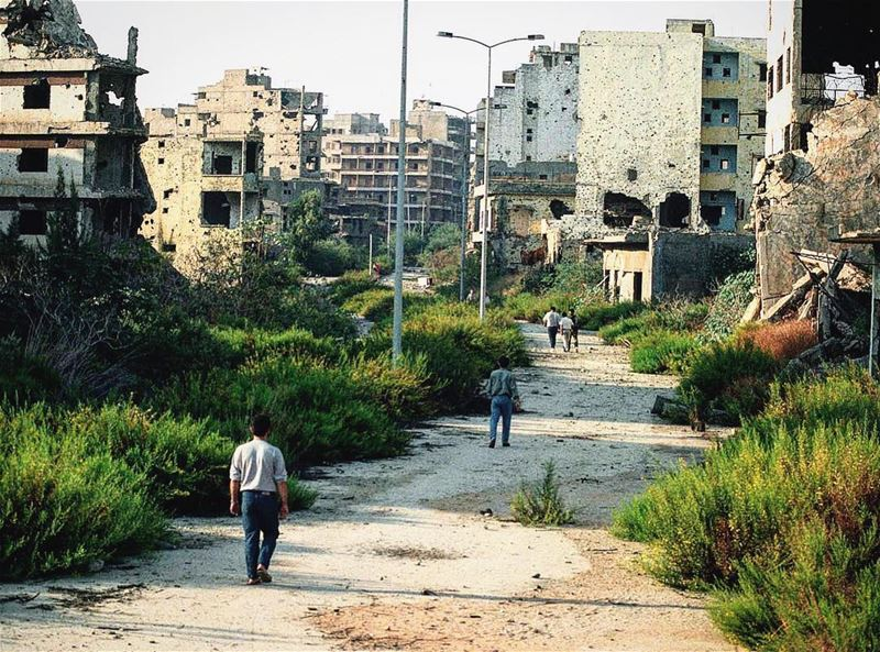 A walk to forget - Post war horror⚠️Can you guess which area in beirut is... (Beirut, Lebanon)