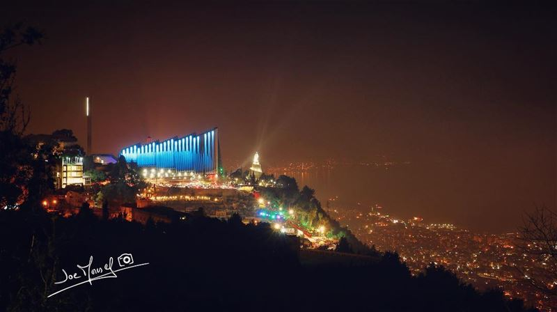 harissa  lebanon  night  nightphotography  holyday  color  sea  nature ...