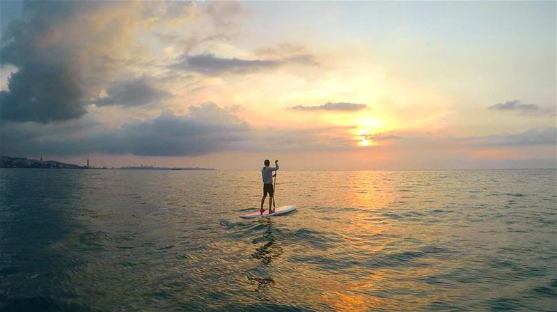 The whole wide world is yours!Another paddle session today. Sunset in... (Surf Shack Lebanon)