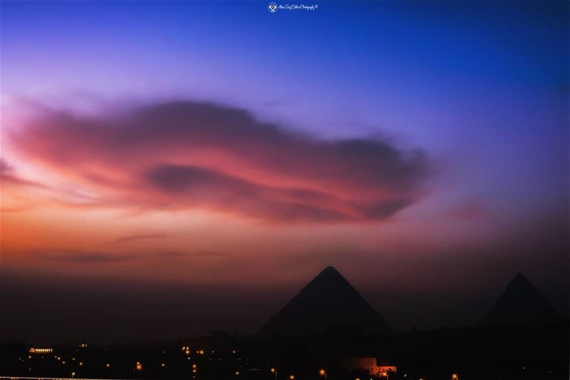 Alien cloud formation above the Pyramids.A composition taken before... (The Great Pyramids Of Egypt)