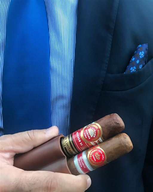 I'm ready. cigar cigars wedding bestfriend hupmann cuba juanlopez suit tie... (`Ajman, ʻAjman, United Arab Emirates)
