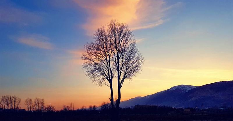 An amazing sunset from BekaaPhoto taken by @chadi.fares ☺️ lebanon ... (West Bekaa)