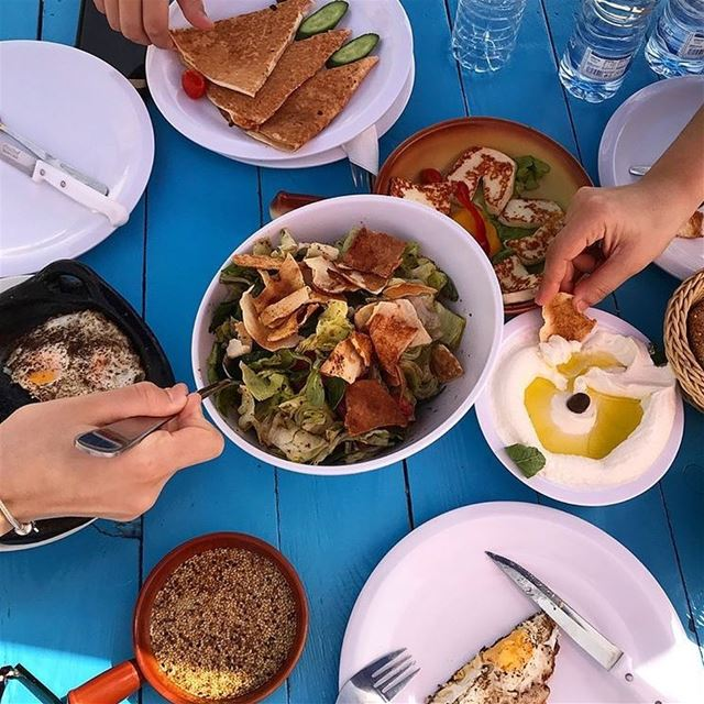Have you ever had a fatouch for Breakfast ?Photo taken by @food_and_gossip (RAY's Batroun)