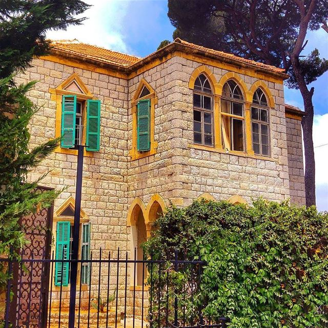 broumana lebanon mountains houses house architecture green nature...