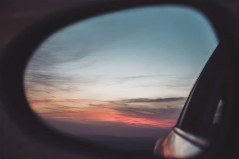 I've never met a sunset I didn't like 🌅••• sunset  mirror  car ... (Lebanon)