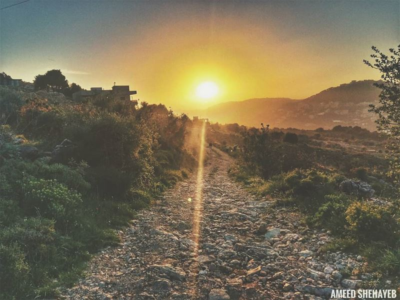 """If the path be beautiful, let us not ask where it leads.""-Anatole France ... (Er-Rejmah, Mont-Liban, Lebanon)"