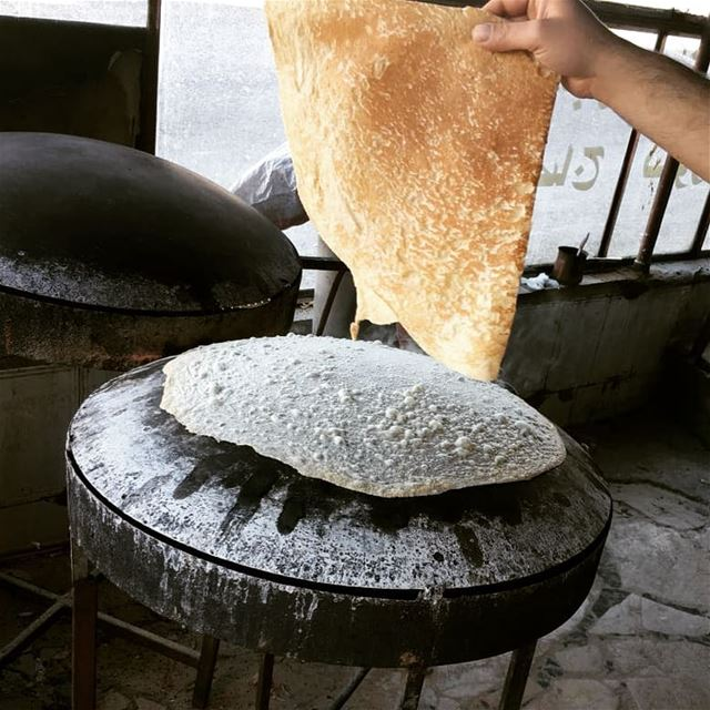 good morning  markouk  bread  hot  fresh  lebanon  lebanesefoodies  ...